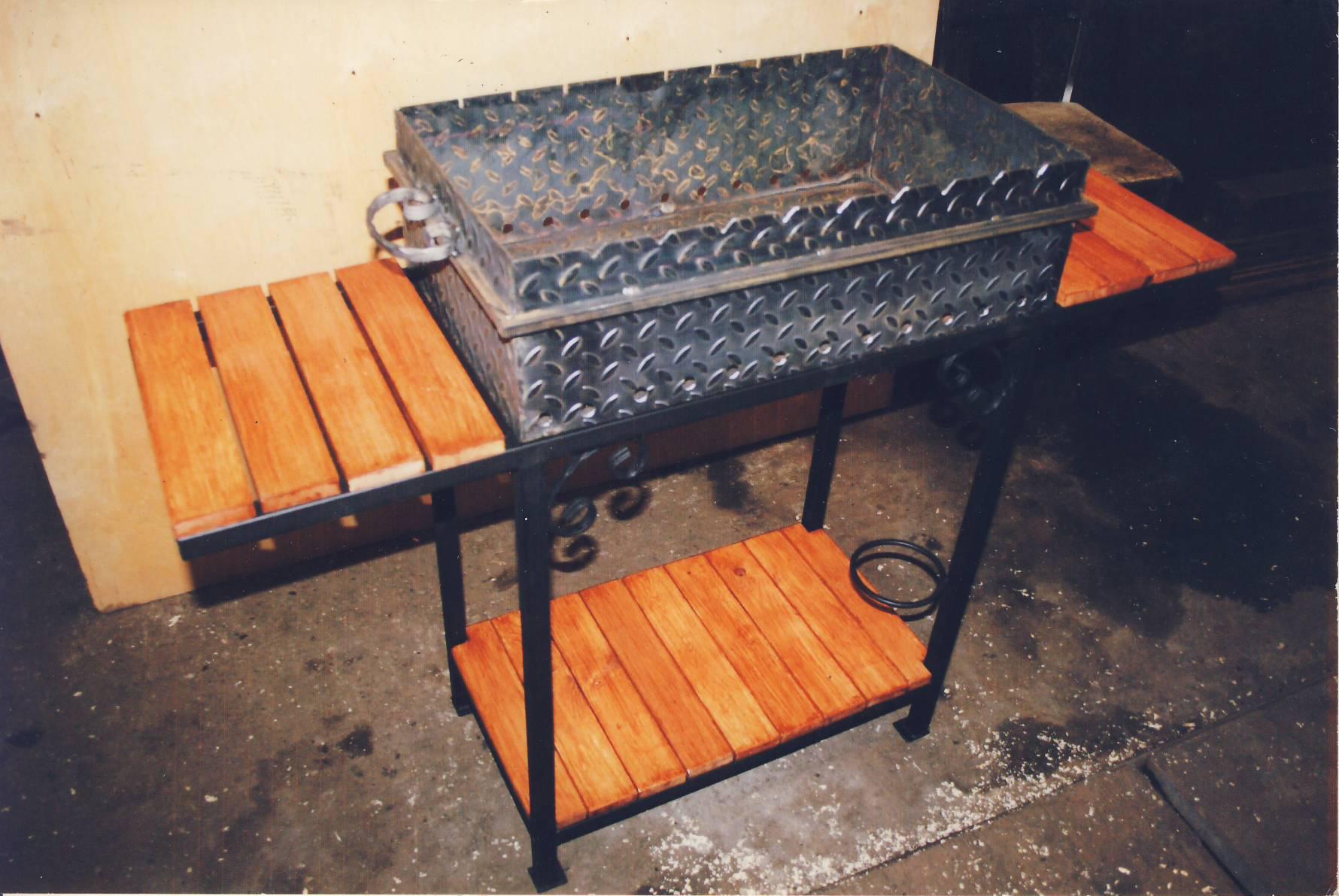 Самодельные металлические мангалы 47